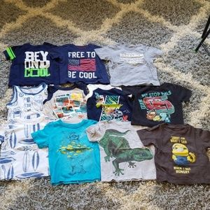 Huge lot bundle or 2T tank tops and tee shirts